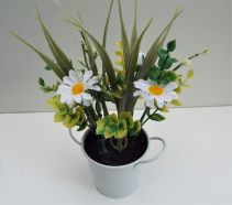 Artificial Flower Potted Plant White