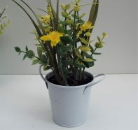 Artificial Flower Potted Plant Yellow