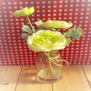 Vase Jar With Yellow Ranunculus