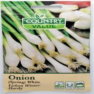 Onion Spring White Lisbon Winter Hardy Seed