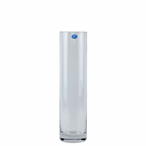 Vase Clear Glass Cylinder 40x10cm