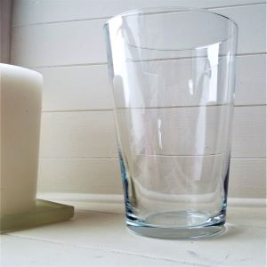 Vase Clear Glass Tapered  25cm