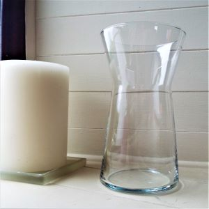 Vase Clear Glass Bud 25cm