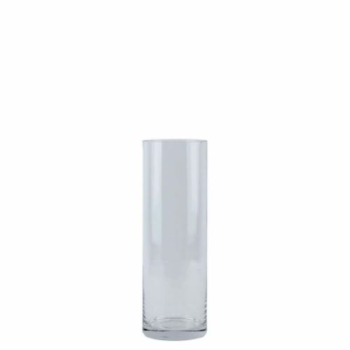 Vase Clear Glass Cylinder 30 x 10cm