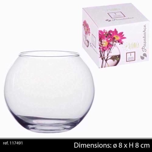 Vase Globe Clear Glass 8cm