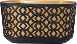 Window Box Aztec Black And Gold